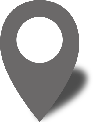 Map location icon png. Simple pin gray free