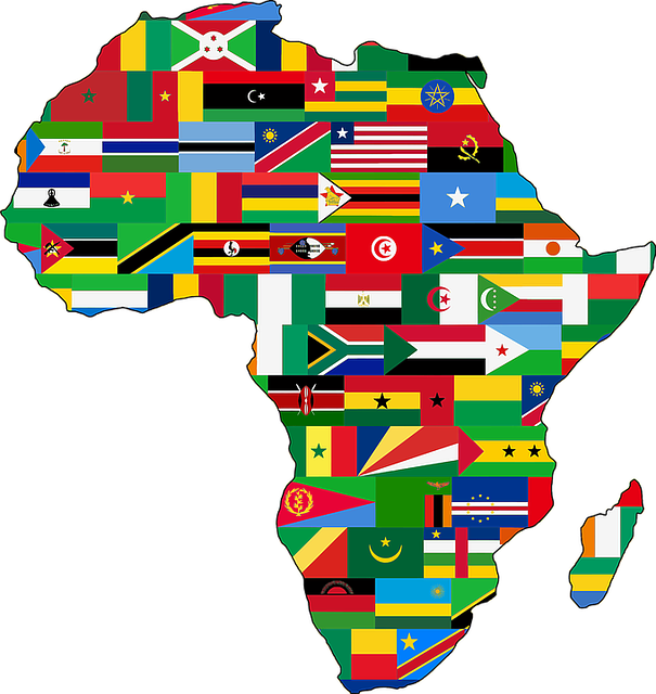 Africa clipart continent africa. Map of facts information