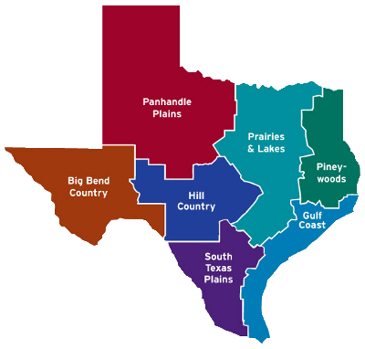 Map of texas png. Parks wildlife department travel