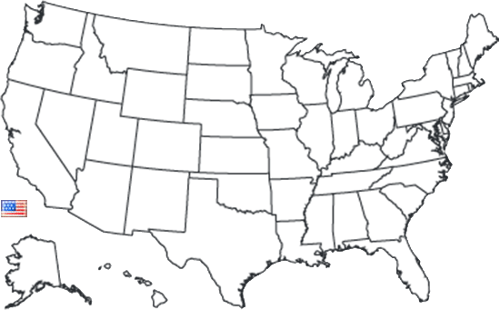 Map of usa black and white png. Nxr professional ranges grade