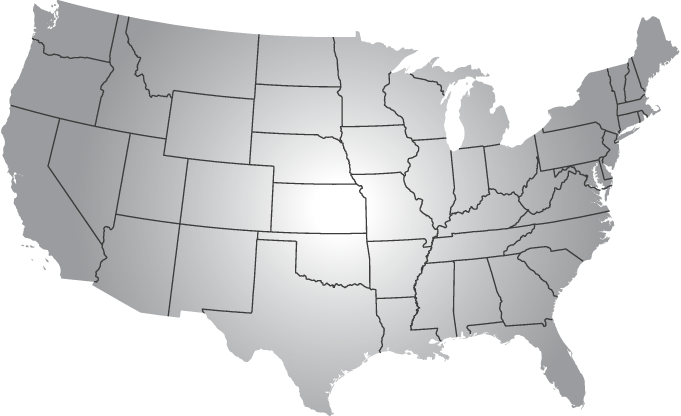 Map of usa black and white png. Without dots alpha rho