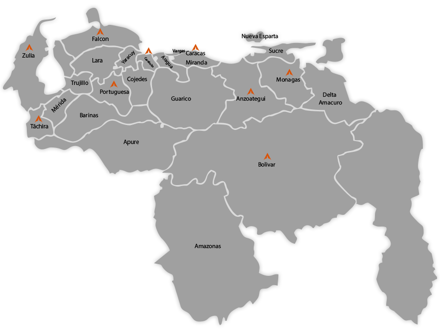 Map of venezuela png. Technical service artex computer
