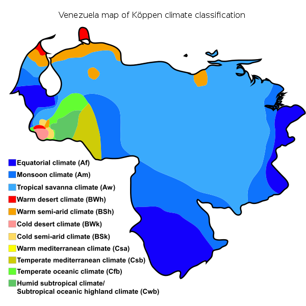 Map of venezuela png. File k ppen climate