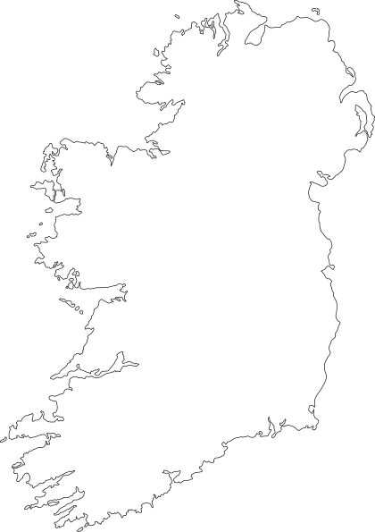 ireland drawing map