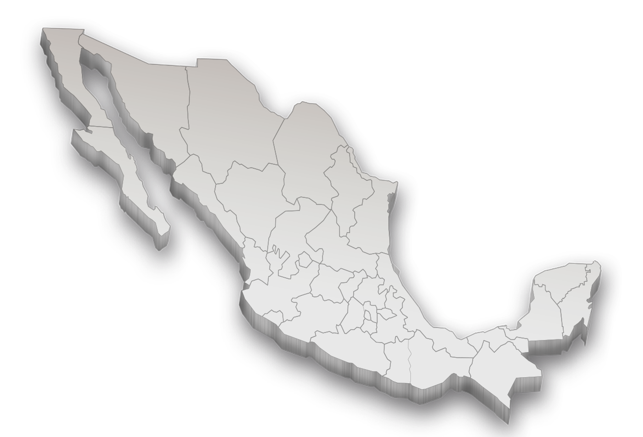 Mapa mexico png. D image