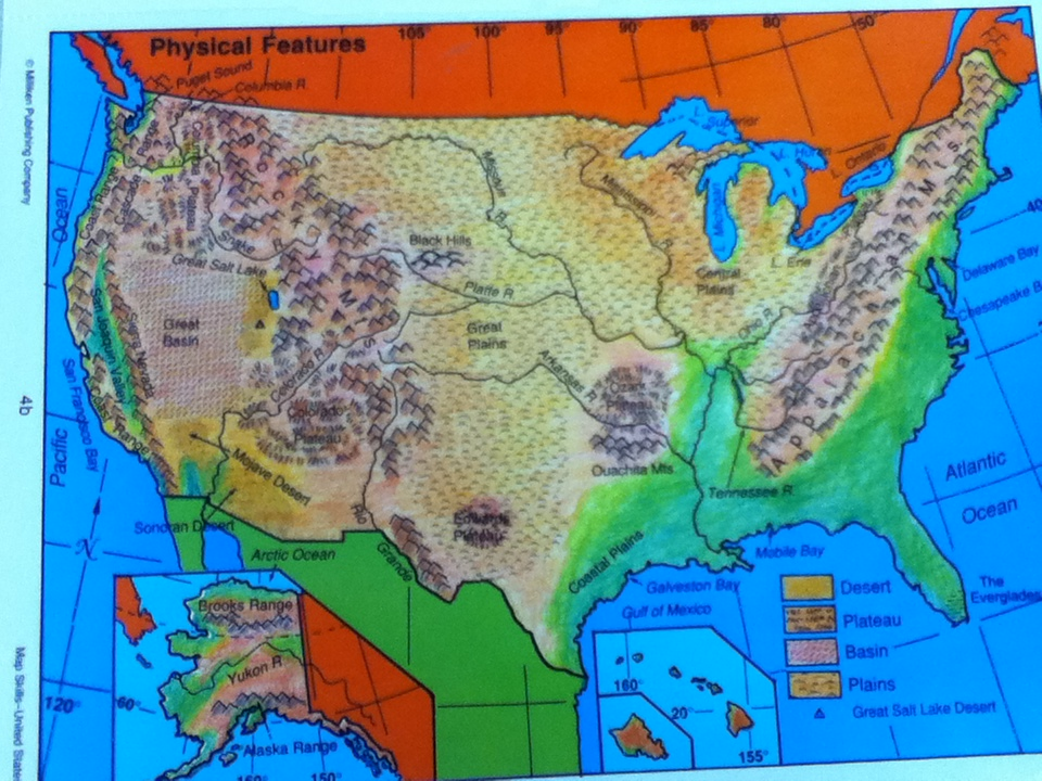 Maps clipart geographical feature. Us physical features map