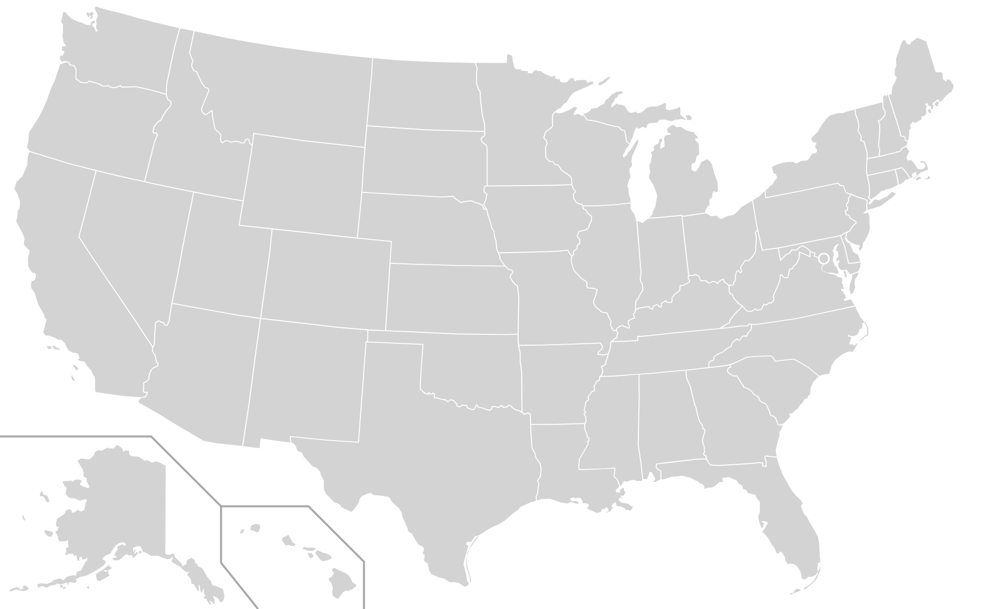 Vector ohio blank. File us map states
