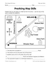 Maps clipart map scale. Practice pinterest worksheets real