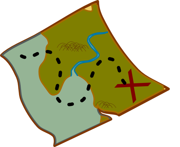 Scavenger hunt clipart trail map. Free maps cliparts download