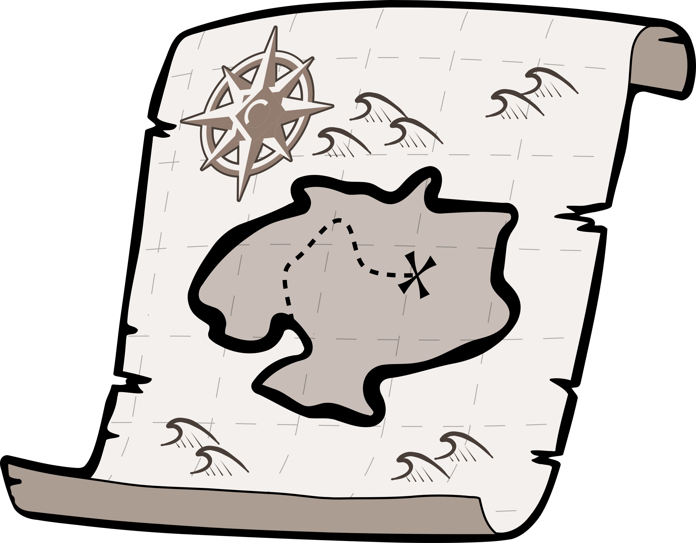 Treasure map big image. Curtain clipart black and white clip royalty free download