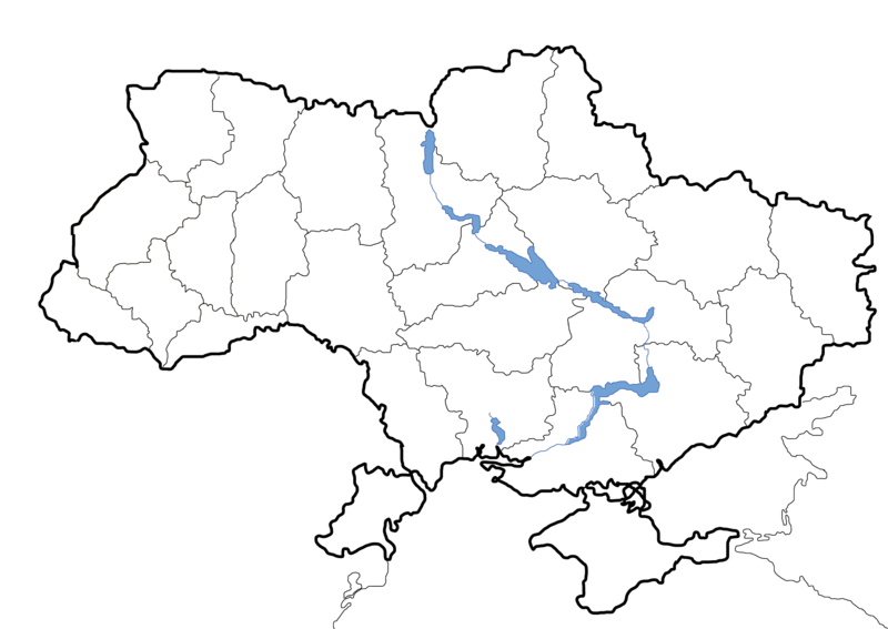 File map of ukraine. Blank png library