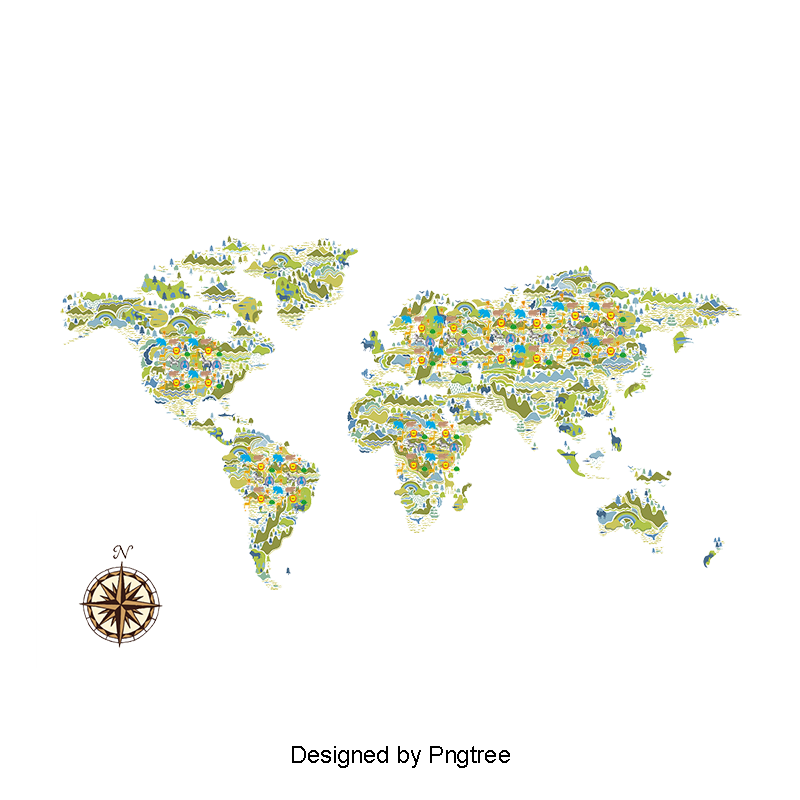 Mundo vector png. Floating world map float