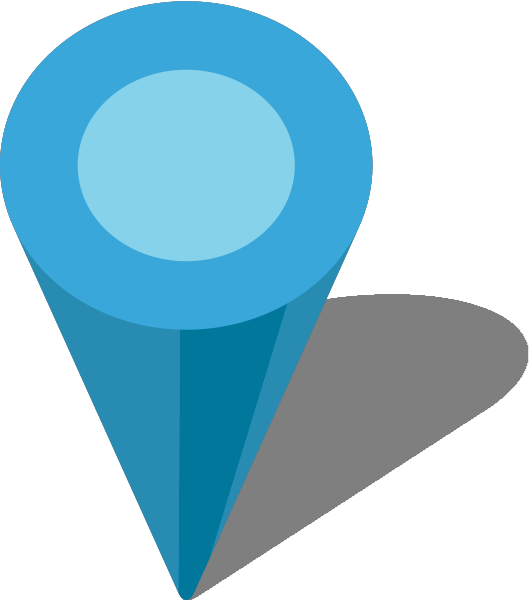 Pins vector blue. Simple location map pin