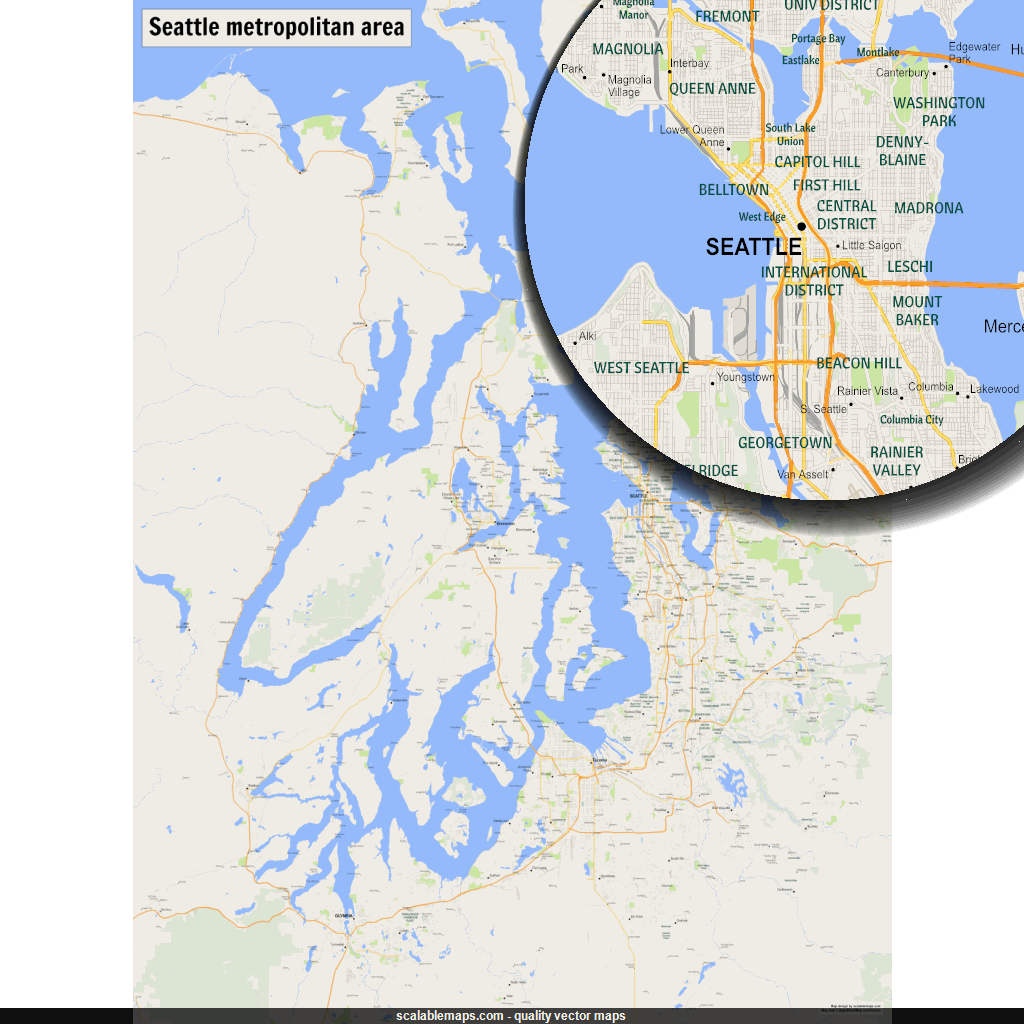 New svg map a. Seattle vector picture freeuse download