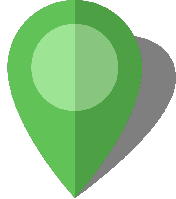 Pins vector green. Simple location map pin