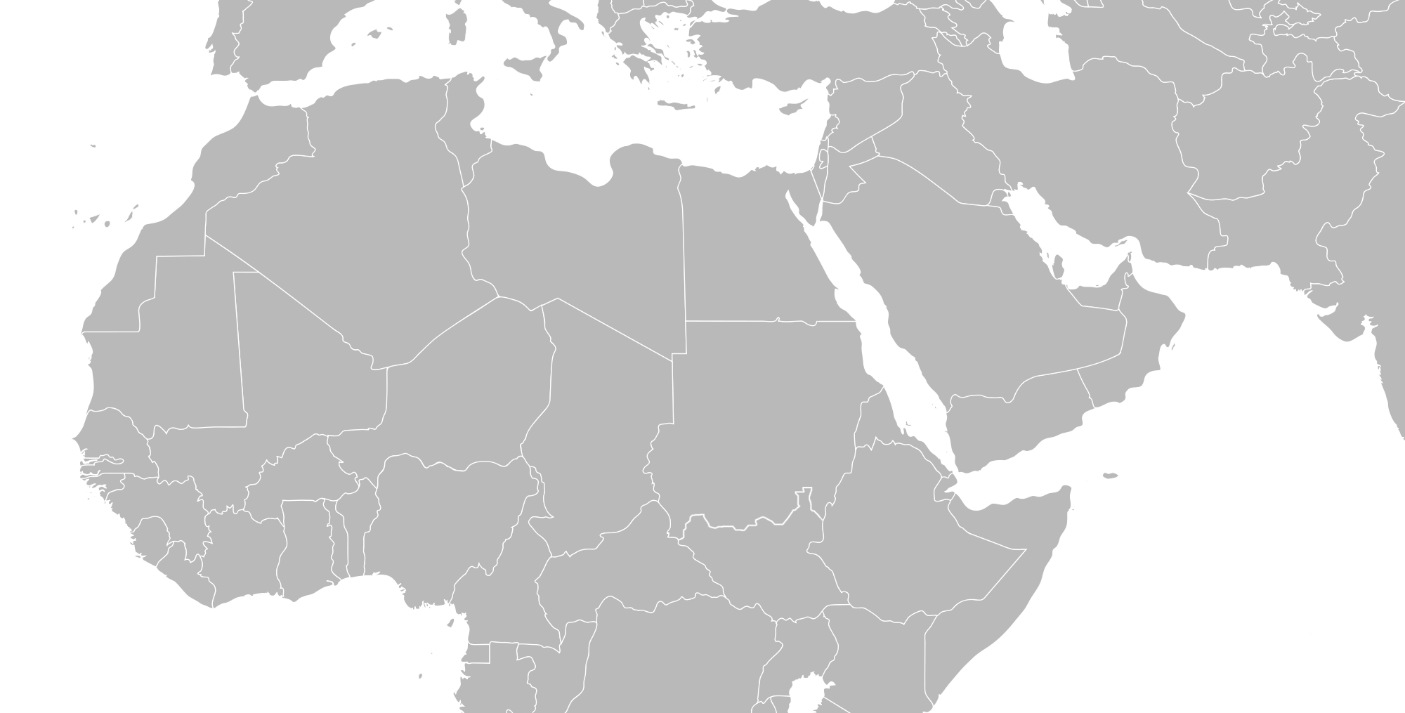 Maps vector mena. North africa central middle