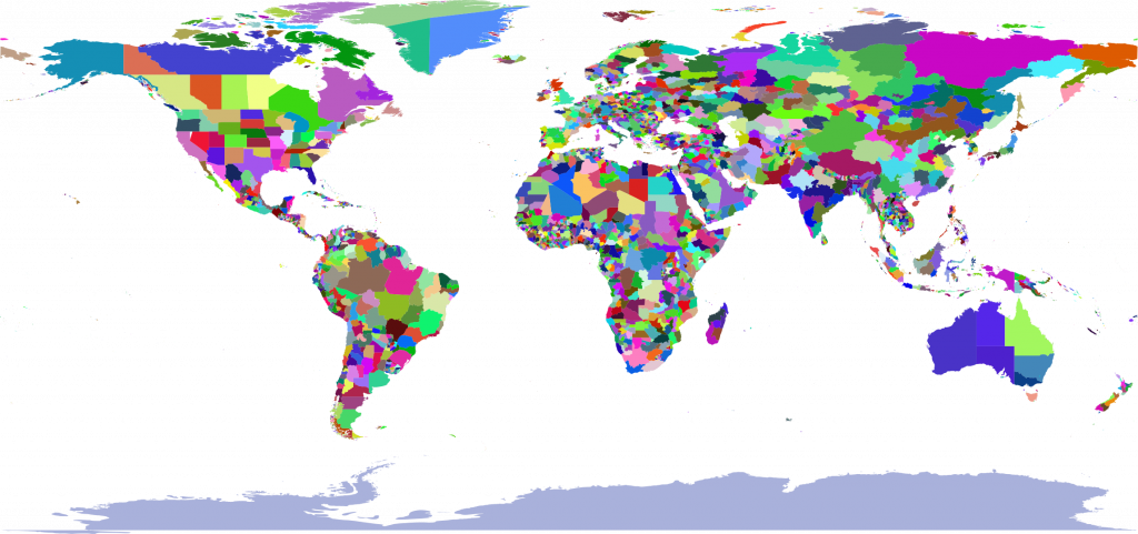 Maps vector mena. Colorful world map collection