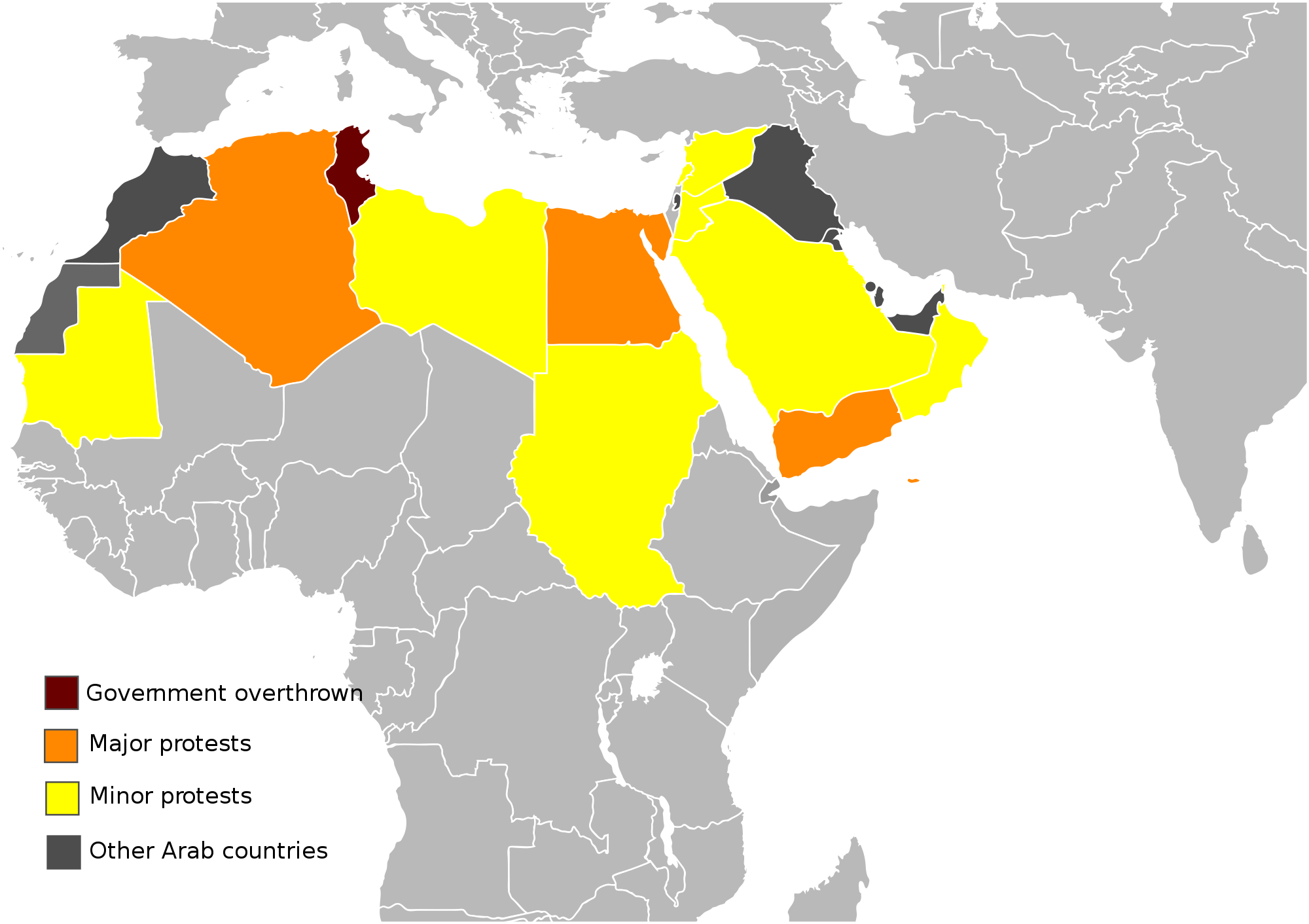 Protest vector protester. File arab protests map