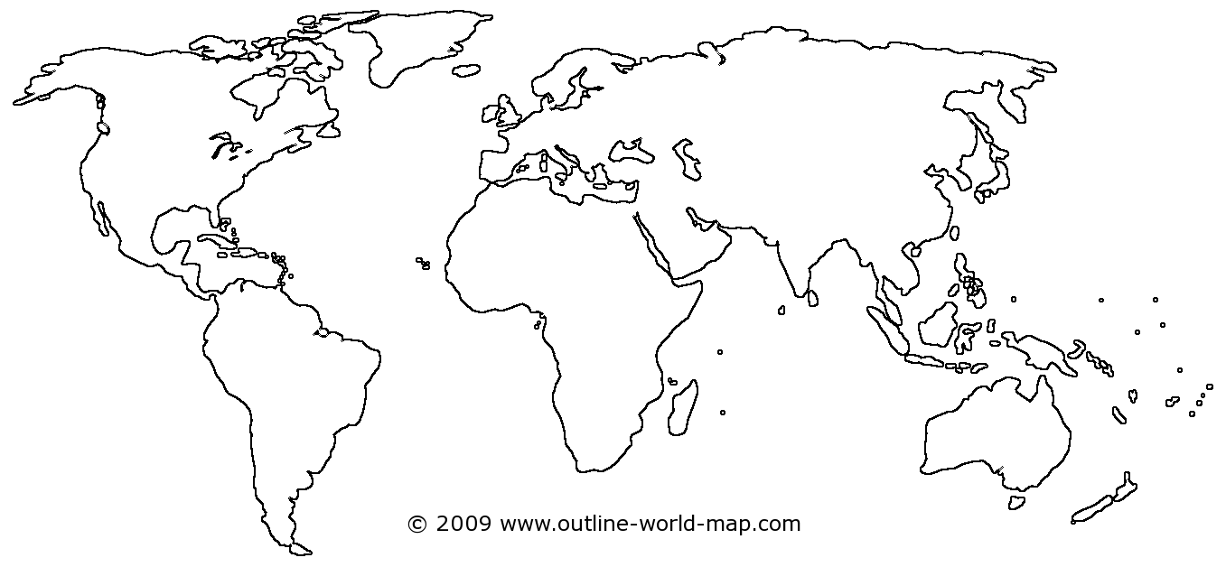 Maps vector minimal. Blank of the world