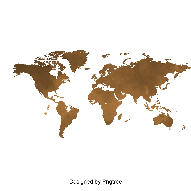 Maps vector texture. Nostalgic coffee map world