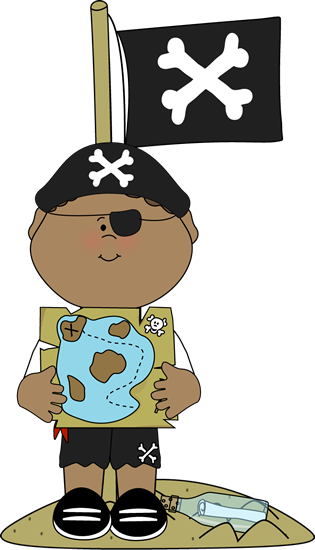 Maps vector pirate. Boy on an island