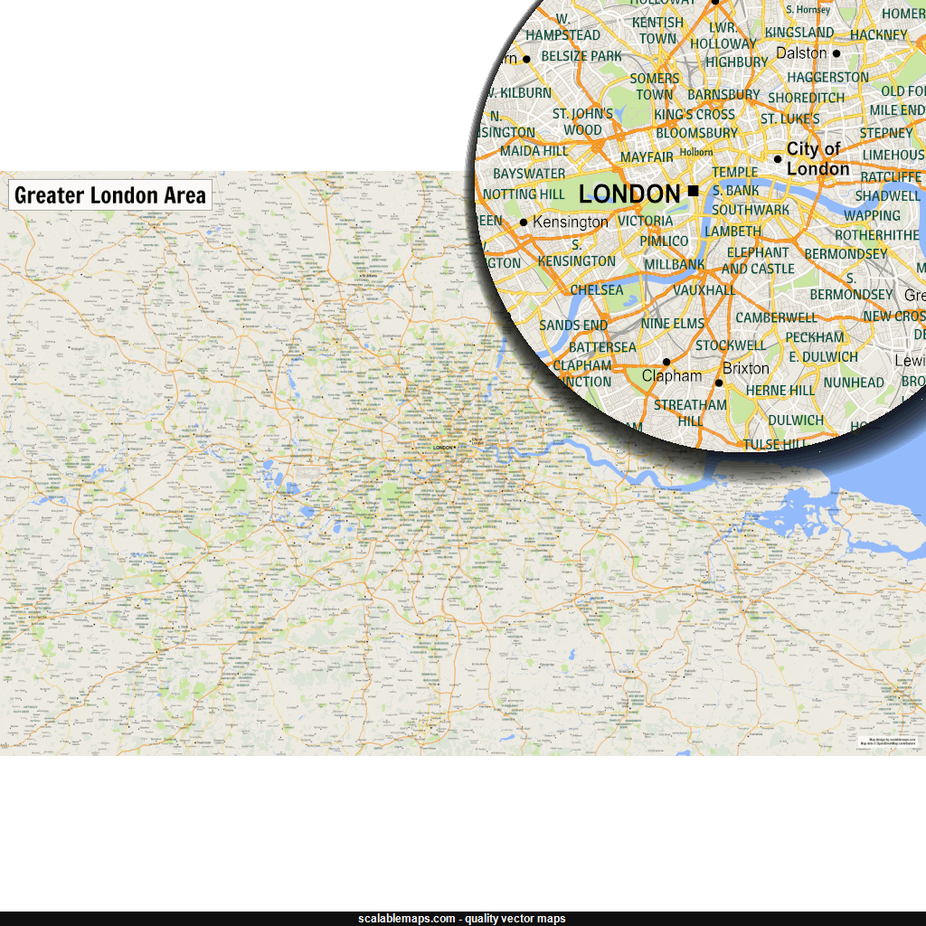 Maps vector texture. Map of london metropolitan