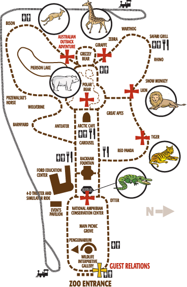 Maps vector zoo. Zoos detroit cozy design