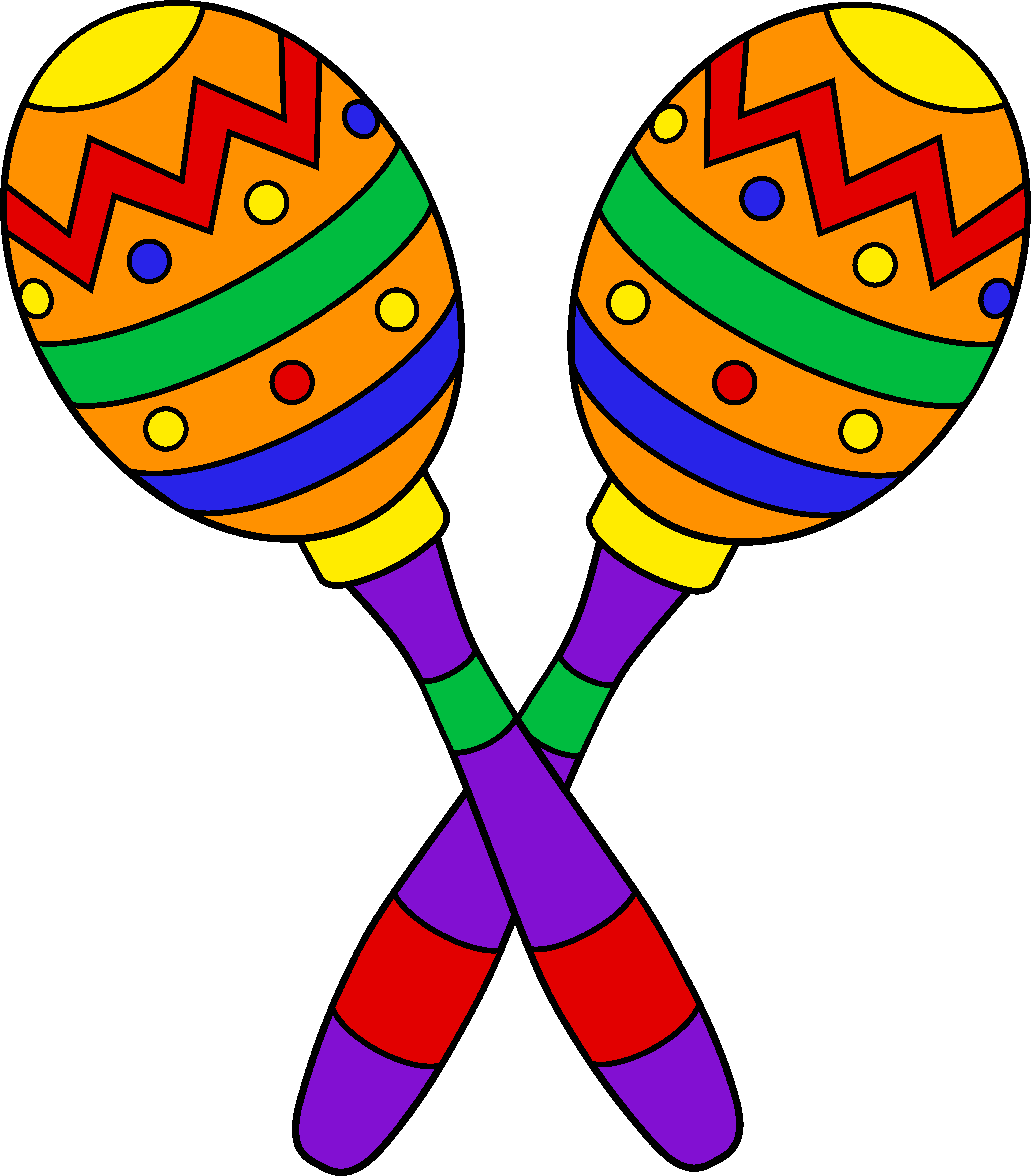 Pair of colorful free. Maracas drawing clip freeuse stock