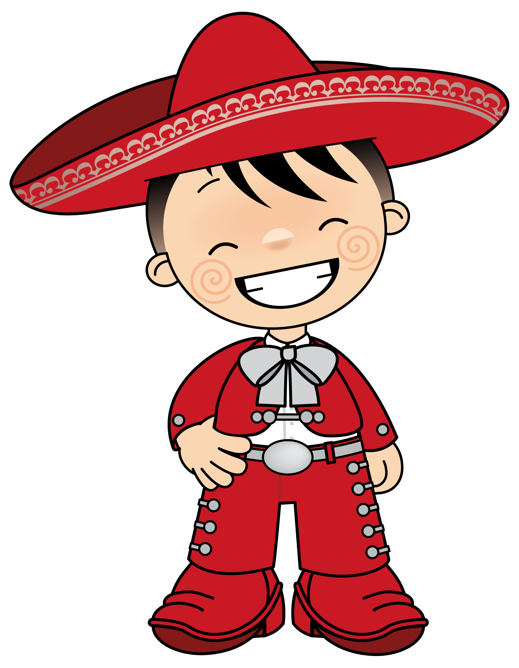 Maracas drawing traditional clothing mexican. Mexicano cinco de mayo