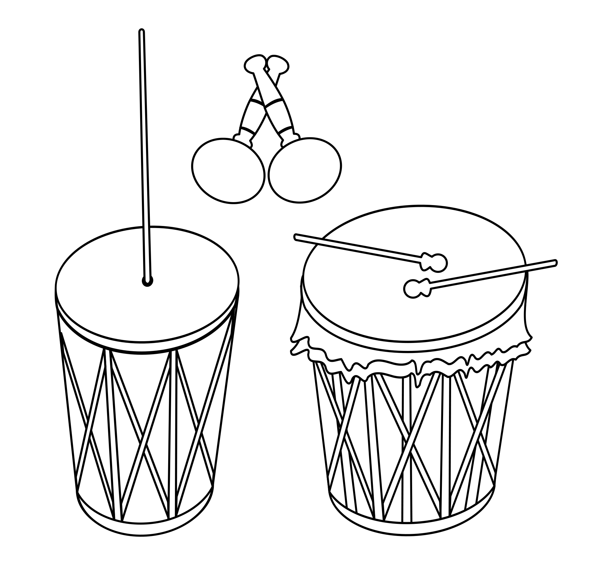 Maracas drawing percussion. File maraca tambor y