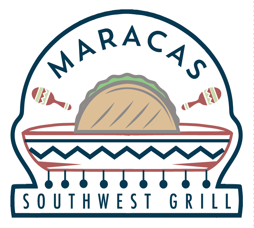 Maracas drawing hat mexican. Southwest grill