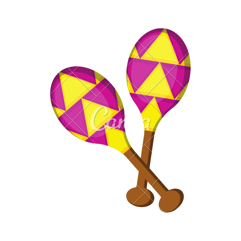 Maracas transparent pair. Of colored icon icons