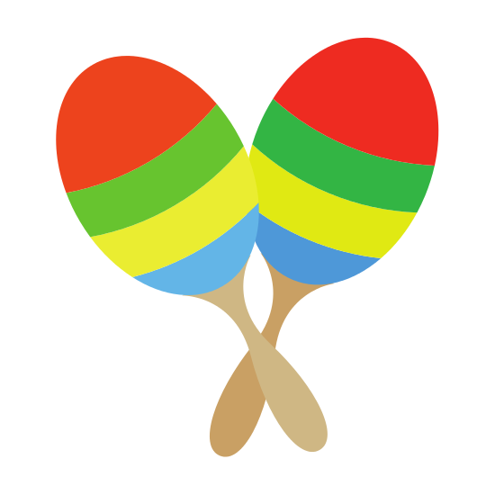 Maracas transparent pair. Of icons by canva