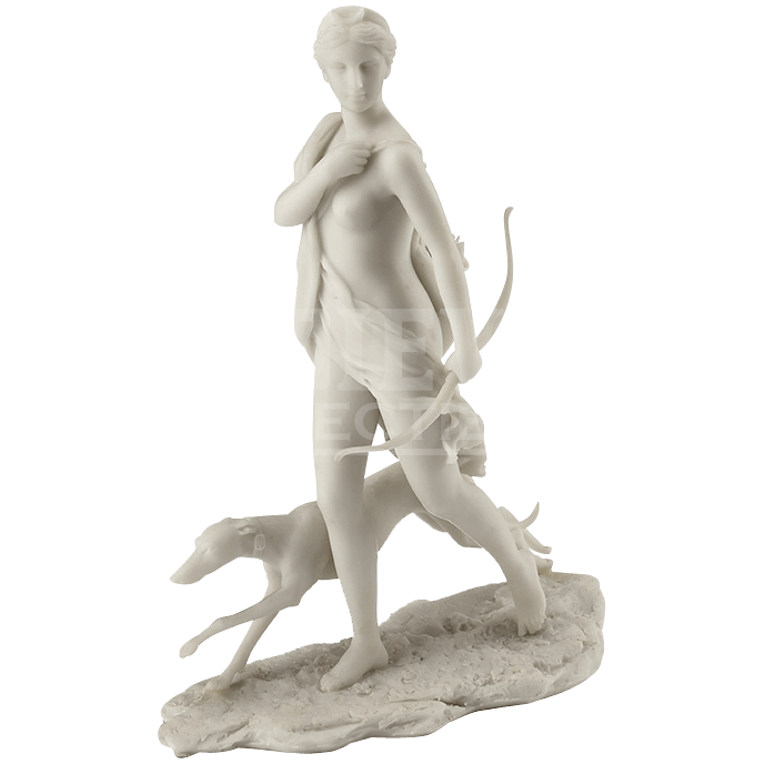 Marble statue png. Diana the huntress white