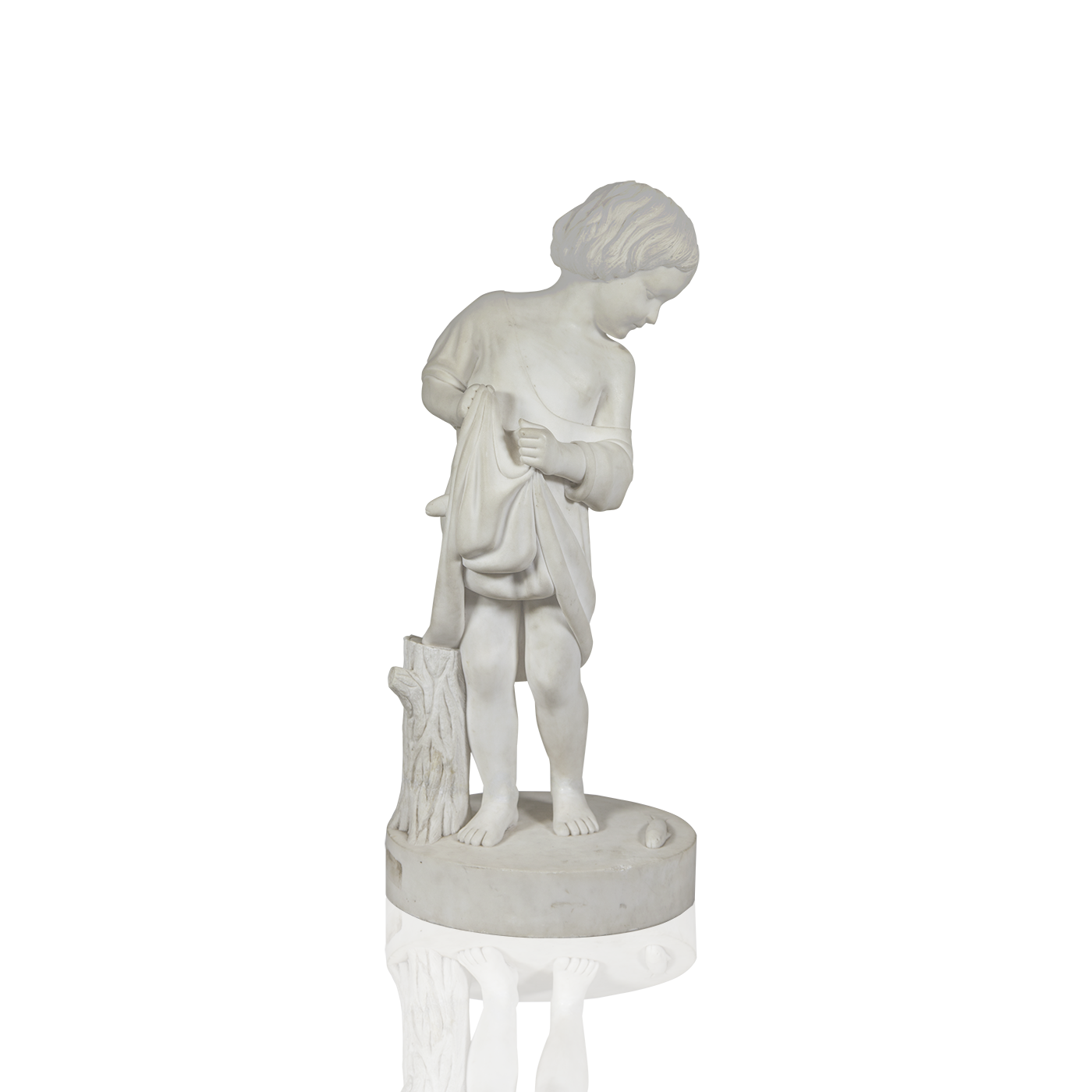 Marble statue png. American school classical sculpture