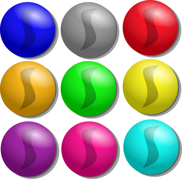 Marbles clipart. Game dots clip art