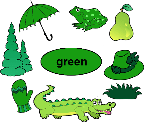 March clipart green object. Color worksheets for kindergarten