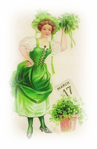 March clipart vintage. Free st patricks day