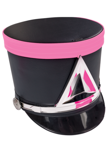 Marching band hat png. Pink cancer awareness in