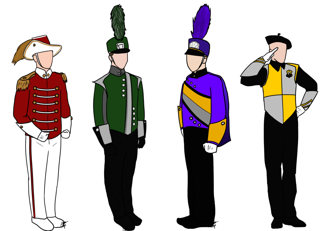 Marching band png. Harry potter uniforms by