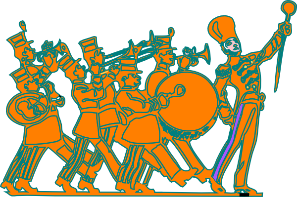 Marching clipart feb. Band clip art at