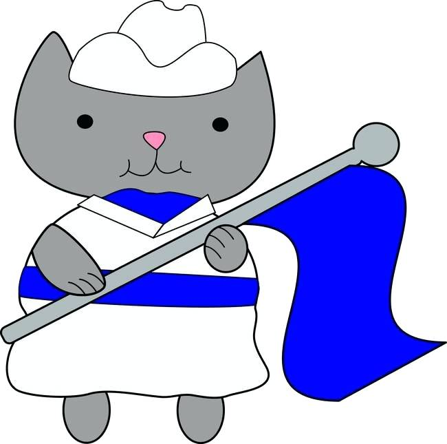 Marching clipart feb. Band color guard clip