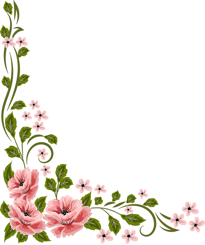 Marcos vector floral. Flowers y bordes pinterest