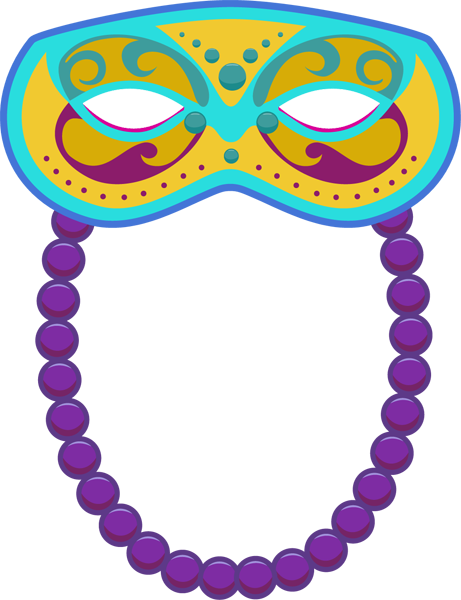 Mardi gras clipart transparent background. Free bead cliparts download