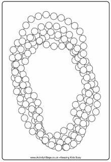 Mardi gras beads clipart coloring page. Colouring kid