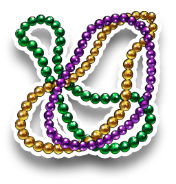 Mardi Gras Beads Neclace Transparent Png Clipart Free Download Ywd