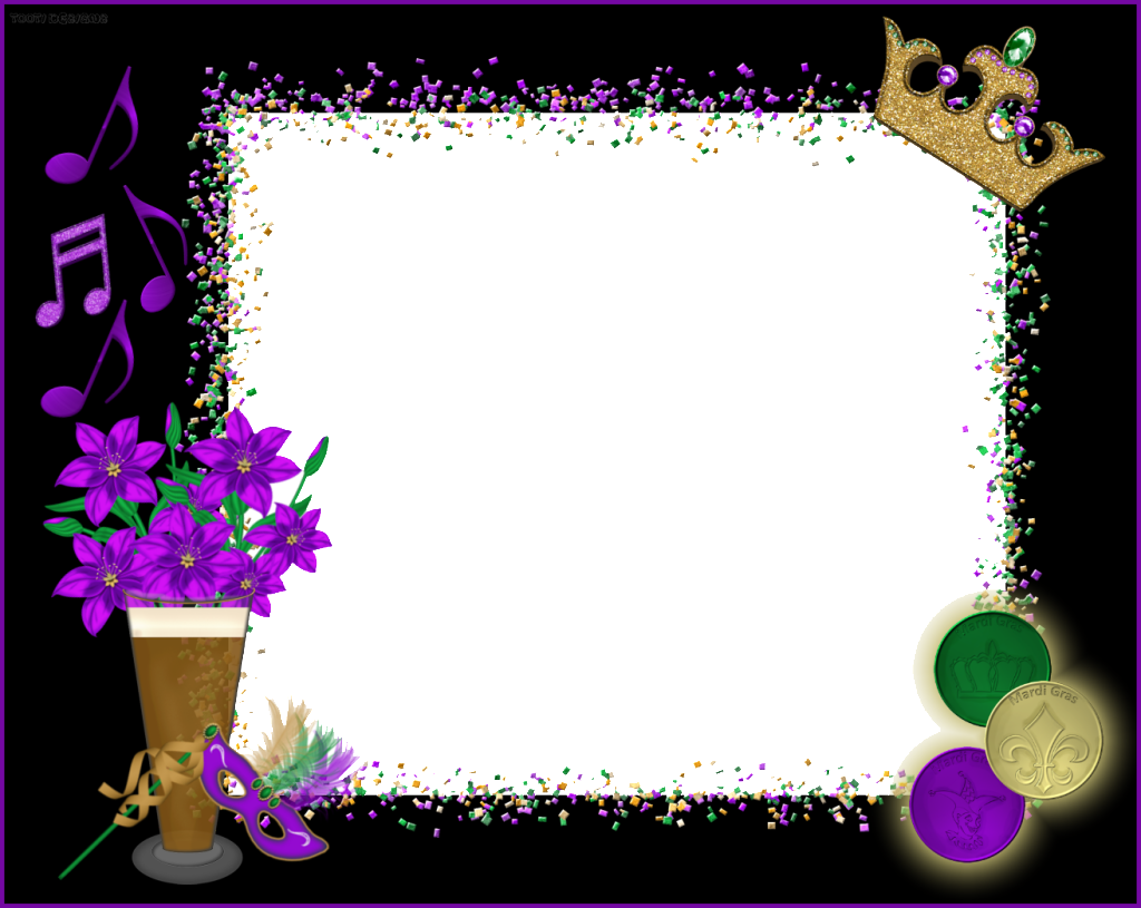 Mardi gras border png. Sch n picture frame