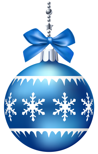 Ornament transparent dark blue. Christmas ball png clip