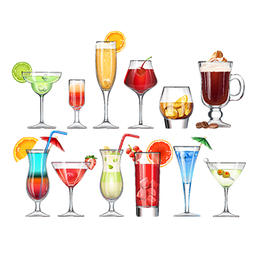 Margarita vectors psd and. Alcohol png vector black and white library