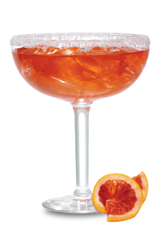 Margarita transparent rose. Blood orange recipe crush